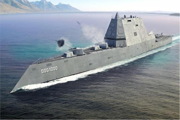 Siêu khu trục hạm Zumwalt của Hải quân Mỹ - chiến hạm của tương lai