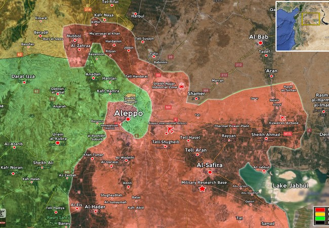 Quân đội Syria và lực lượng vũ trang Kurrd bao vây phiến quân nổi dậy ở thành phố Aleppo