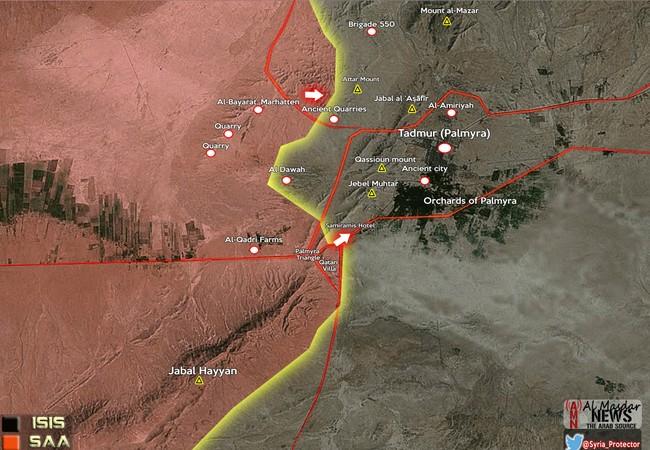 Lực lượng Tigers và đồng minh tấn công khách sạn Semiramis, Palmyra