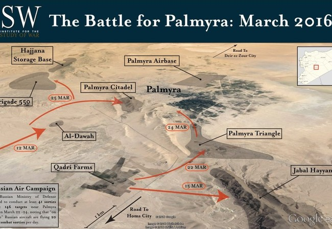 Video + Ảnh: Ác liệt trận chiến giành thành phố cổ Palmyra