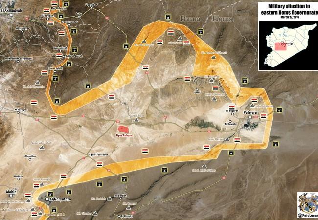 Quân đội Syria tăng cường lực lượng tấn công thành phố Qaryatayn, Homs