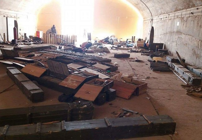 Quân đội Syria phát hiện ra một kho vũ khí ở Palmyra
