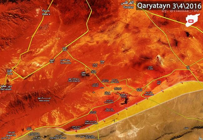 Quân đội Syria giải phóng thành phố cổ Qaryatayn