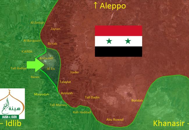 Quân đội Syria mất ưu thế chiến trường khi Hồi giáo cực đoan đánh chiếm thị trấn al-Eis