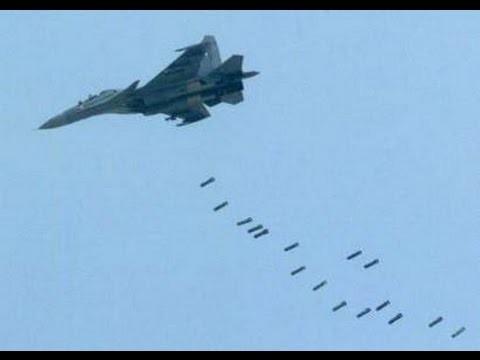 Video: Cận cảnh máy bay Su-24, Su-35 Nga không kích