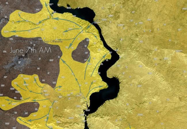 Lực lượng Dân chủ Syria tiến sát đến thành phố Manbij (video)