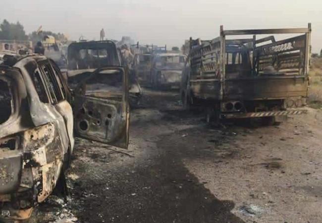 Hàng trăm xe vận tải của IS bị thiêu hủy ở tỉnh Anbar, Iraq