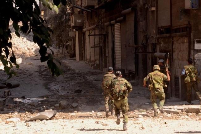 Các binh sĩ Syria ở Latakia