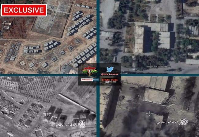 Những địa điểm bị không quân Syria không kích ác liệt