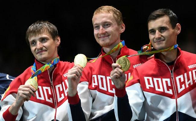 Những huy chương vàng đội tuyển đấu kiếm Nga