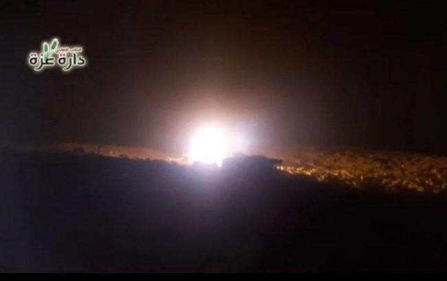 Không quân Nga không kích ở phía Tây Aleppo.