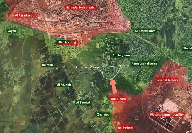 Bản đồ chiến sư khu vực quận Ramouseh