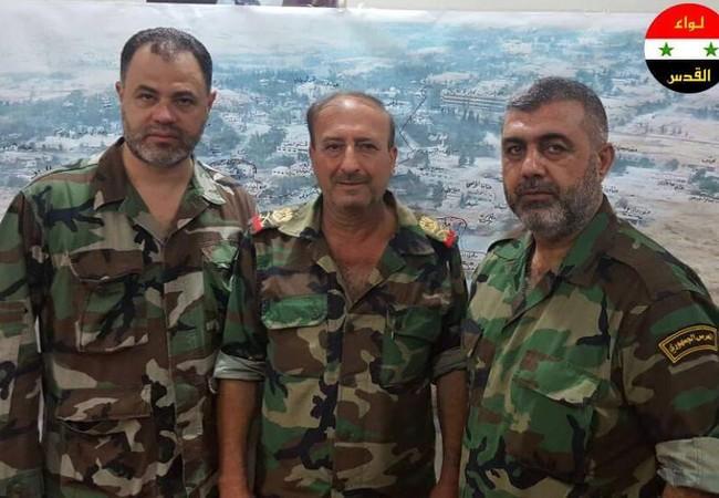 Tướng Rajab, chỉ huy chiến dịch quân sự khu vực quận Tây Nam Aleppo, Chuẩn tướng Malik tư lệnh Vệ binh Cộng hòa Aleppo và Chỉ huy trưởng Mohammad Saad của lữ đoàn Liwa al Quds quân tình nguyện Palestine.