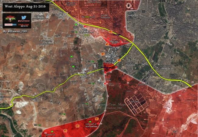 Bản đồ chiến sự Aleppo tại căn cứ Ramousah