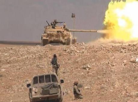 Quân đội Syria pháo kích ở tỉnh Hama