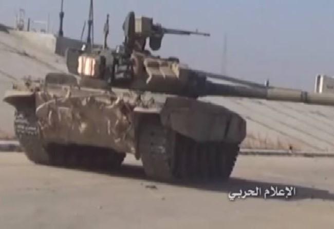 Xe tăng T-90 quân đội Syria ở Aleppo