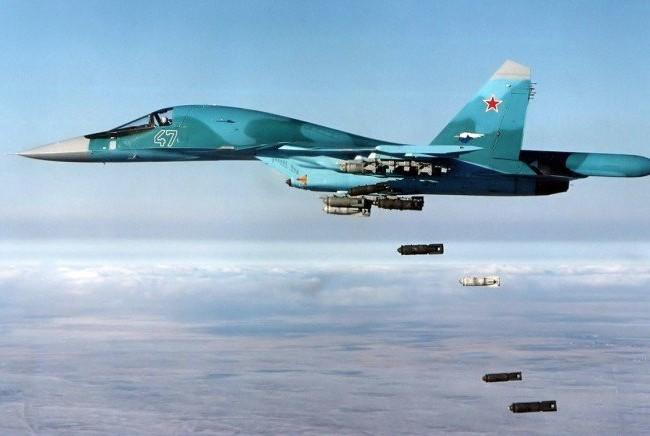 Không quân Nga không kích.