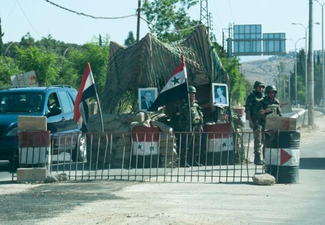 Một trạm kiểm soát của quân đội Syria