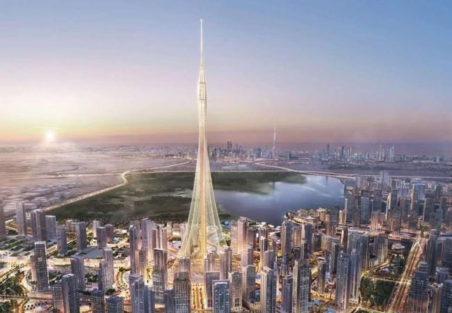 Tòa tháp Tower sẽ xây dựng ở Dubai cao hơn 828 m