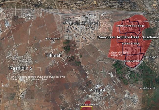 Bản đồ chiến sự Aleppo tính đến ngày 23.10.2016