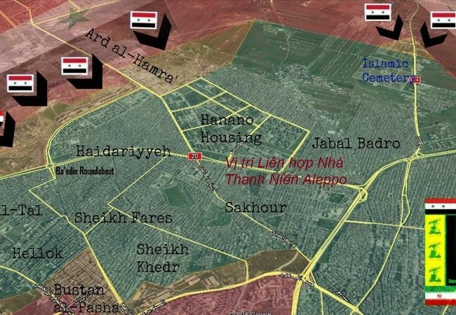 Vị trí Khu liên hợp nhà Thanh niên ở Aleppo