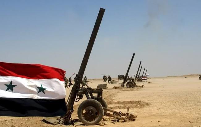 Trận địa súng cối 240 mm của quân đội Syria