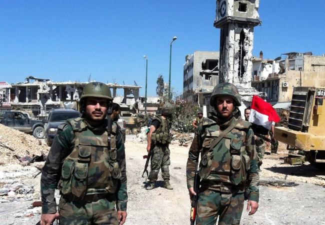Binh sĩ Syria ở Aleppo