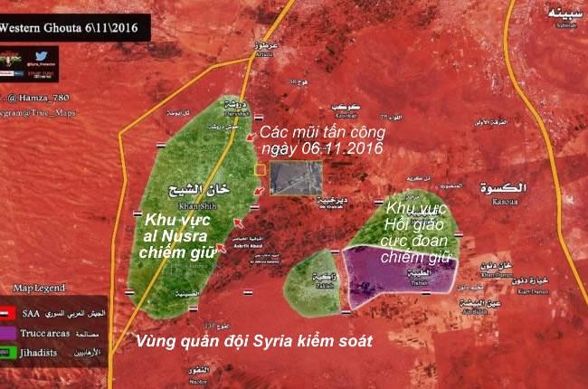 Tình hình chiến sự khu vực Tây Ghouta