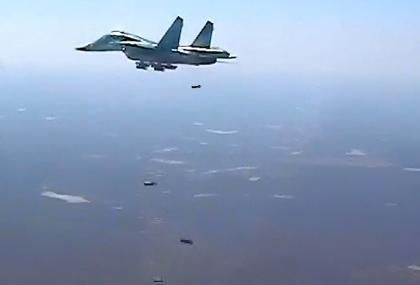 Máy bay ném bom Su-34 không kích ở Syria