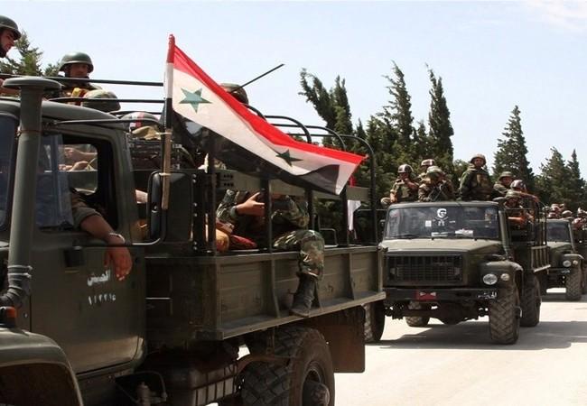 Lực lượng quân tăng cường của quân đội Syria đến Đông Ghouta