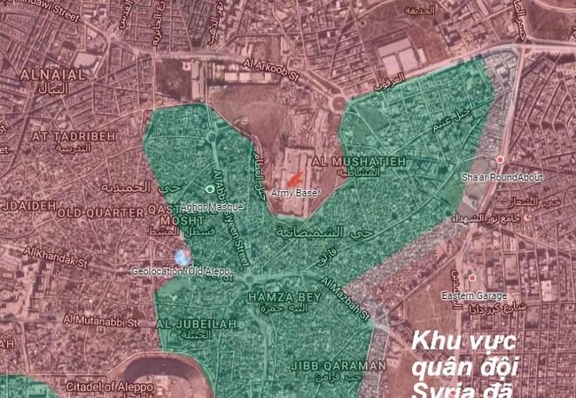 Chiến sự Aleppo, chỉ còn một khoảng cách ngắn, quân đội Syria sẽ tiến đến khu thành Cổ