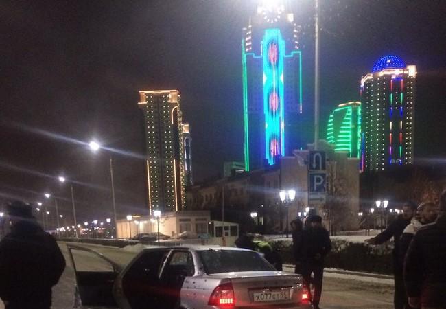Hiện trường vụ nổ súng ở Grozny, thủ đô nước cộng hòa Chechnya, Nga