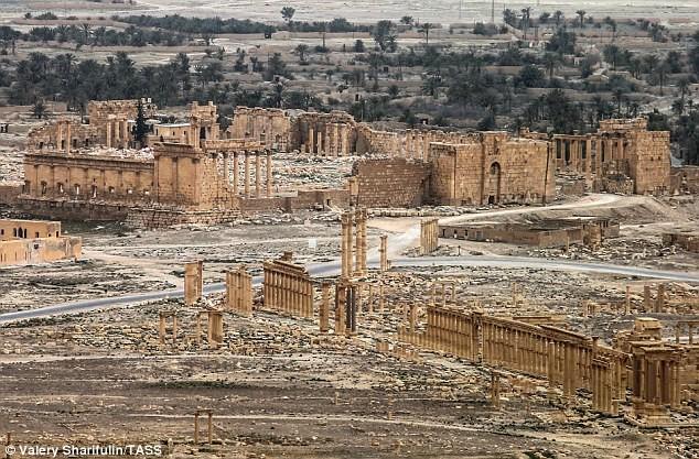 Toàn cảnh thành cổ Palmyra