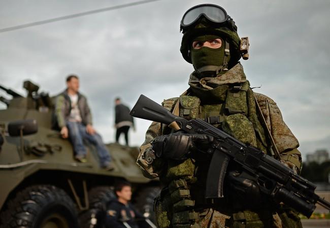 Một quân nhân thuộc lực lượng đặc nhiệm Nga có mặt ở Syria