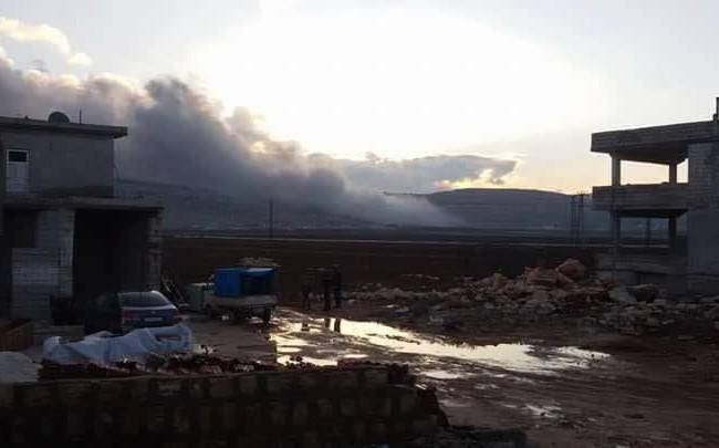 Thị trấn Sarmada sau vụ không kích của Mỹ