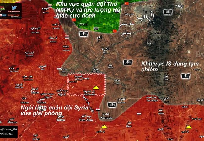 Bản đồ chiến sự vùng đông Aleppo