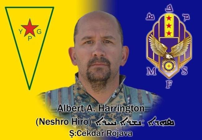 Albert Avery Harrington, chiến binh YPG người Mỹ tử trận ở Raqqa, Syria