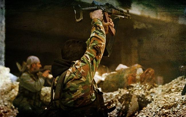 Binh sĩ quân đội Syria chiến đấu trong khu vực Đông Ghouta