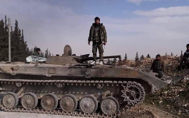 Một sĩ quan chỉ huy của lực lượng Tiger trên chiến trường Aleppo