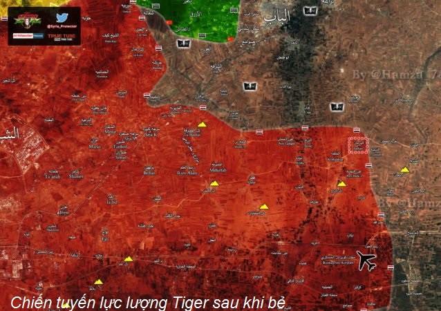 Chiến tuyến lực lưởng Tiger trên chiến trường đông Aleppo đang tiến sát gần Al-Bab