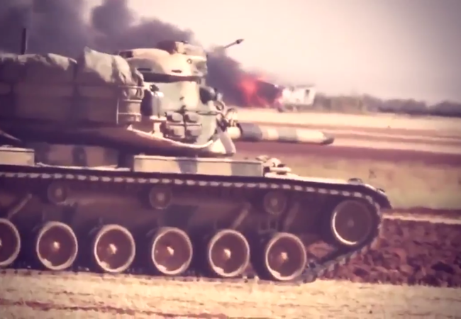 Xe tăng quân đội Thổ Nhĩ Kỳ ở Syria