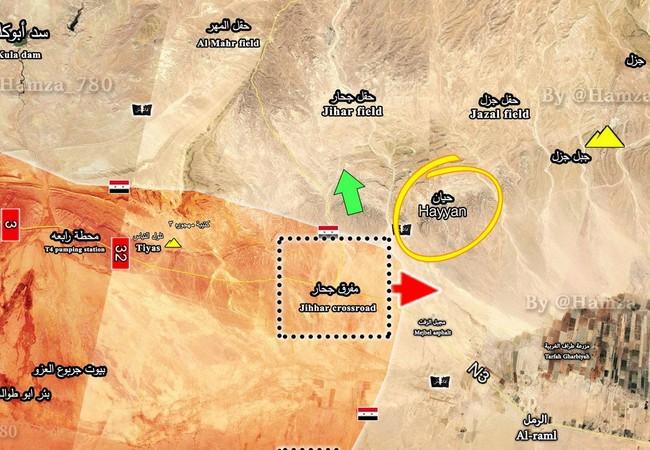 Bản đồ tình hình chiến sự Palmyra