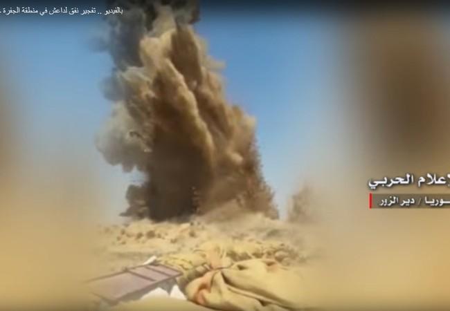 Vụ nổ phá hủy đường hầm, chôn vùi hàng chục tay súng IS