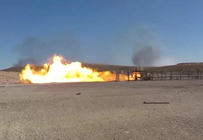 Mỏ khí gas Hayyan đã nhiều ngày bốc cháy dữ dội