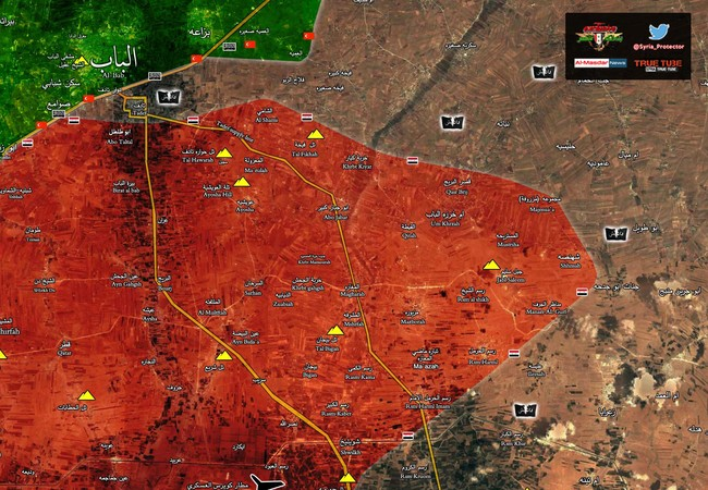Chiến tuyến quân đội Syria trên vùng nông thôn phía đông Aleppo