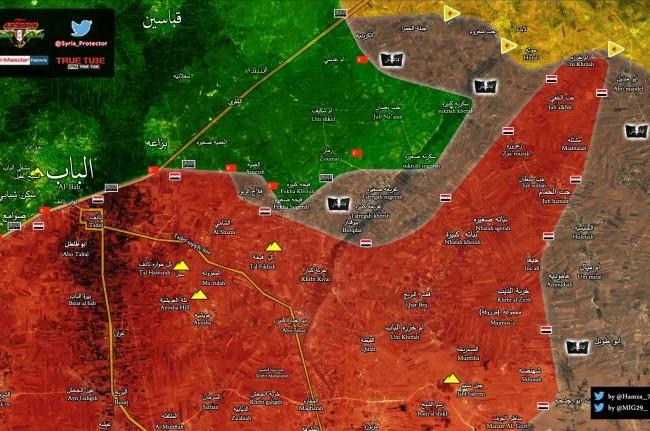 Chiến trường phía đông thành phố Aleppo tính đến ngày 27.02.2017