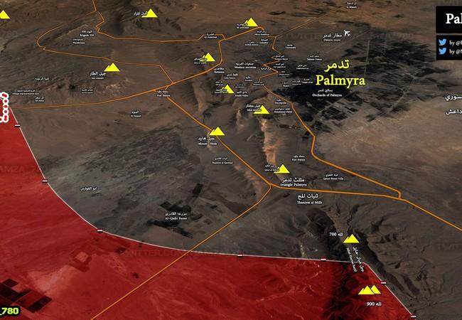 Quân đội Syria đánh chiếm núi Jabbal Hayya, hình thành thế bao vây thành phố cổ Palmyra