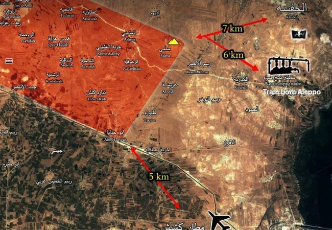 Tình hình chiến sự chiến trường phía đông Aleppo