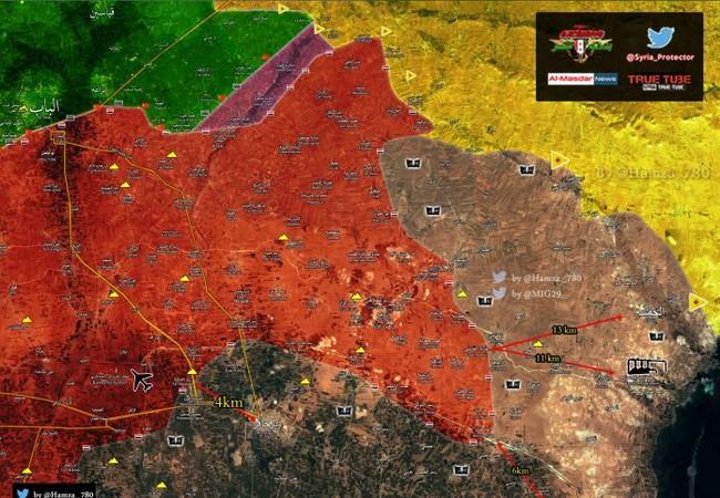 Tình hình chiến sự trên vùng nông thôn phía đông Aleppo