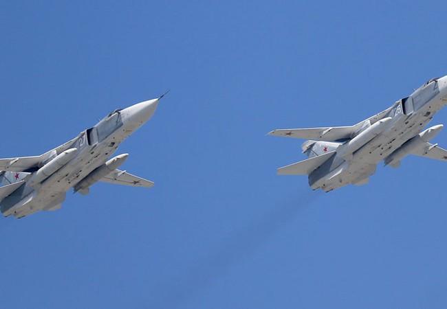 Máy bay ném bom chiến trường Su-24 ở Syria (ảnh minh họa)